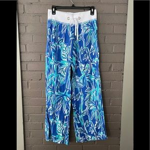 Lilly Pulitzer Blue Bamboo Beach Pants  S